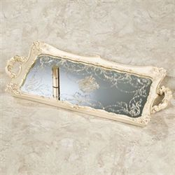 Inez Mirrored Vanity Tray Ivory