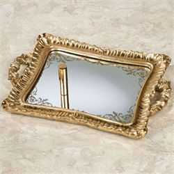Melyna Mirrored Vanity Tray Gold