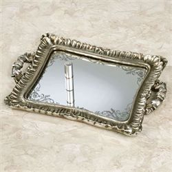 Melyna Mirrored Vanity Tray Silver