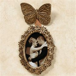 Papillon Wall Photo Frame Gold