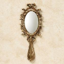 Vina Elegante Wall Hand Mirror Gold