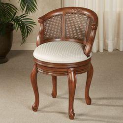 Belhurst Natural Cherry Swivel Vanity Chair