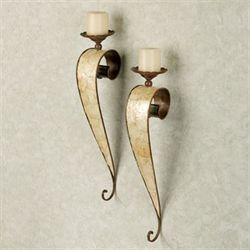 Nidia Wall Sconce Pair Ivory Pair