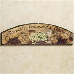 Rosettis Vineyard Sign