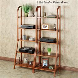 Kimber Tall Ladder Shelf Only Mission Red Oak Five Tier