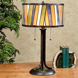 Connor Stained Glass Table Lamp Multi Jewel Each with CFL Bulbs