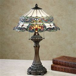 Grace Stained Glass Table Lamp Multi Jewel Each with CFL Bulbs