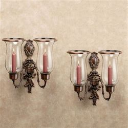 Nerissa Double Sconces Polished Copper Pair