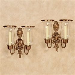 Nerissa Double Sconces Champagne Bronze Pair