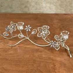 Rosianna Floral Table Candelabra Champagne Gold