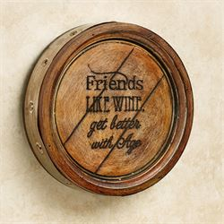 Friends Like Wine Plaque Multi Warm