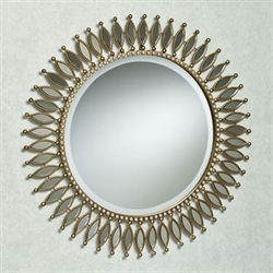 Makayla Round Wall Mirror Gold
