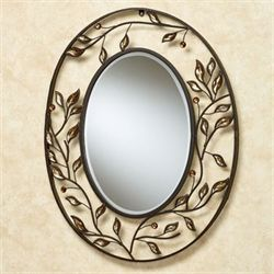 Alexandra Vining Oval Mirror Brown