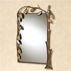 Marielle Tree Wall Mirror Brown