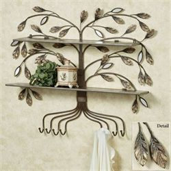 Marielle Tree Wall Shelf Brown