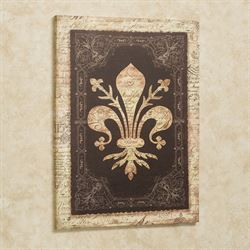 Vintage Fleur Canvas Wall Art Brown/Gold