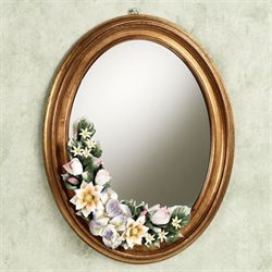 Leanna Floral Wall Mirror Gold