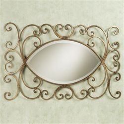 Andreano Wall Mirror Antique Gold