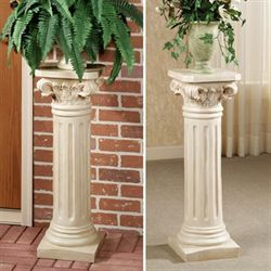 Classic Roman Column Pedestal Cream