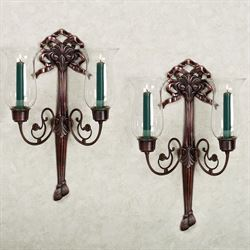 Rochelle Double Hurricane Sconce Pair Pair