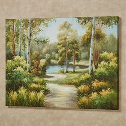 Summer Walks Canvas Wall Art Green