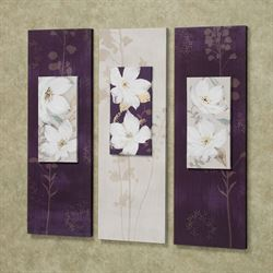 Garden Dance Canvas Wall Art Set Purple Set of Three