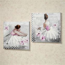 Reflective Moments Canvas Art Set White Set of Two