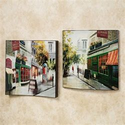 Scenes from Paris Wall Art Set Multi Jewel Set of Two