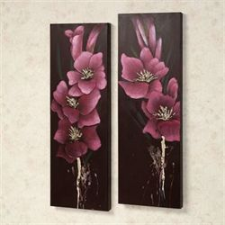 Island Array Canvas Wall Art Set Pink Set of Two