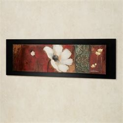 Silent Beauties Poppy Wall Art Black