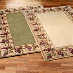 Grapes Napa Border Area Rug