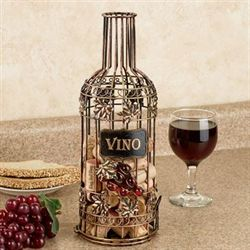 Cheers to Wine Cork Holder Aged Gold