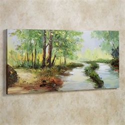 Summer Stream Canvas Wall Art Green