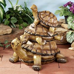 Turtle Family Sculpture Multi Earth