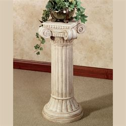 Ionic Pedestal Column Ivory Wash Large