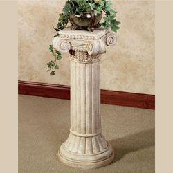 Ionic Pedestal Column Ivory Wash Large