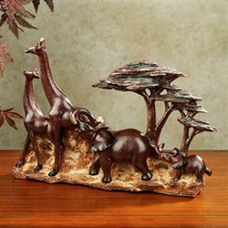 In the Savannah Table Sculpture Russet