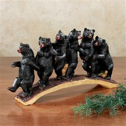 Follow the Leader Bear Table Sculpture Brown