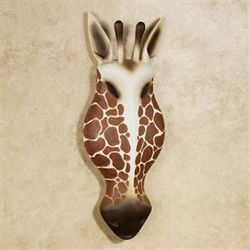 Giraffe Head Wall Art Auburn