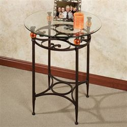 Adele Round Accent Table Bronze