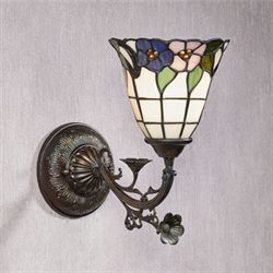 Shyla Stained Glass Wall Sconce Burnished Bronze