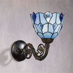 Gandolf Stained Glass Wall Sconce Bronze