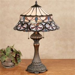 Gabriela Stained Glass Table Lamp Multi Pastel Each with CFL Bulbs