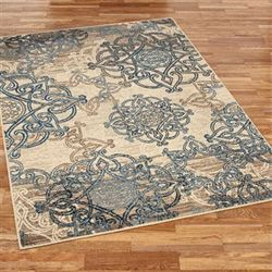 Celtic Knot Rectangle Rug Vanilla