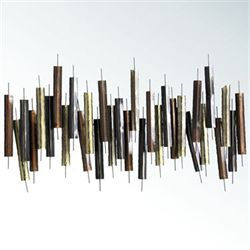 Chaney Abstract Wall Sculpture Multi Metallic