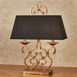 Tahbert Table Lamp Tarnished Gold