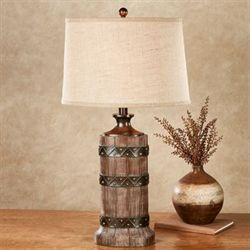 Gentry Table Lamp Rustic Brown