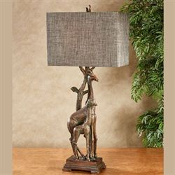 Gabby and Gabe Giraffe Table Lamp Bronze