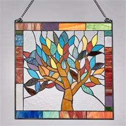 Tree of Life Window Art Panel Multi Bright