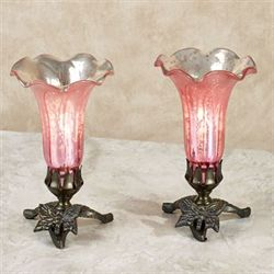 Lovaas Lily Uplight Lamps Light Pink Pair